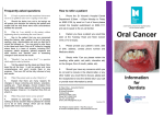 Oral Cancer - The Kinghorn Cancer Centre