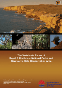 The Vertebrate Fauna of Royal and Heathcote National Parks and