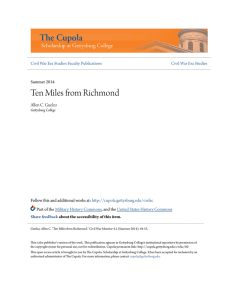 Ten Miles from Richmond - The Cupola: Scholarship at Gettysburg
