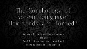 the korean language morphology