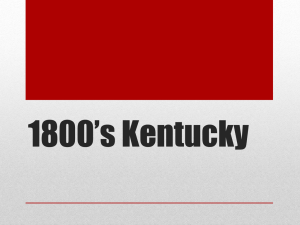 1800`s Kentucky - Rowan County Schools