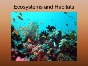 Ecosystems and Habitats