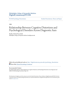 Relationship Between Cognitive Distortions and Psychological