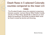 Death Rates in 5 selected counties compared to