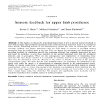 Sensory feedback for upper limb prostheses