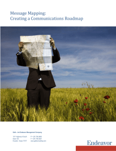 Message Mapping: Creating a Communications Roadmap