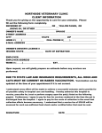 New Client/New Patient Form - Northside Veterinary Clinic