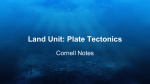 Land Unit: Plate Tectonics - Mrs. Tes de Luna`s Science Class