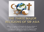 Three Major Religions of