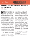 nutrition Hunting and gathering in the age of refined foods