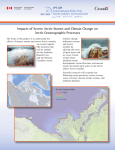 Impacts of Severe Arctic Storms and Climate Change on Arctic