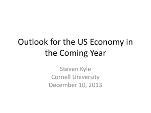 Outlook for the US Economy in the Coming Year
