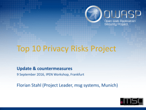 OWASP Top 10 Privacy Risks