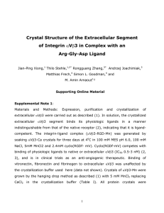 Crystal Structure of the Extracellular Segment of Integrin V 3 in