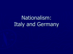 Nationalism: Italy and Germany