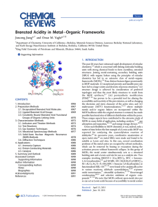 Brønsted Acidity in Metal−Organic Frameworks