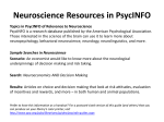 Education Resources in PsycINFO