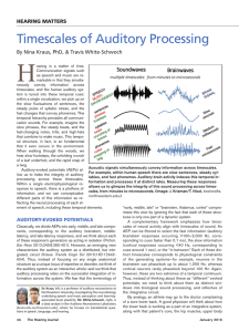 Timescales of Auditory Processing - Brainvolts