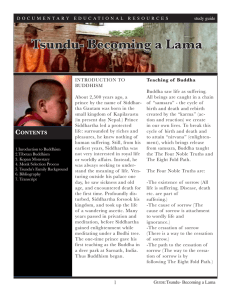 Tsundu- Becoming a Lama - Documentary Educational Resources