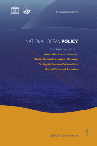 National ocean policy: the basic texts from