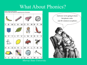 What About Phonics? - Murray State University
