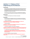 Activity 1.1.1 History of Civil Engineering and
