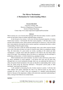 The Mirror Mechanism: A Mechanism for Understanding Others