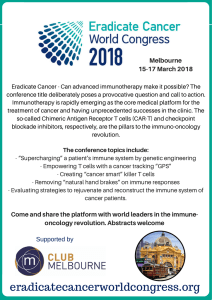 Eradicate Cancer 2018 flyer - Eradicate Cancer World Congress