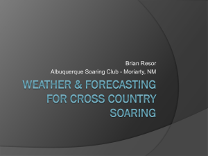 Weather Forecasting for Cross Country Soaring