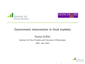 Government intervention in food markets