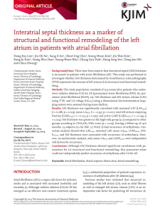 Interatrial septal thickness as a marker of structural and functional