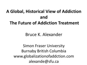Bruce Alexander Presentation - FEAD (Film Exchange on Alcohol