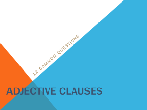 adjective clauses - WordPress @ VIU Sites