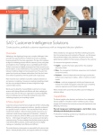 SAS® Customer Intelligence Solutions