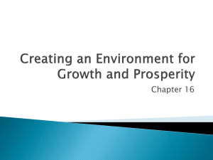 Creating an Environment for Growth and Prosperity