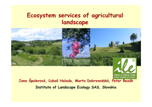 Ecosystem services of agricultural landscape in Slovakia