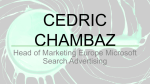 Head of Marketing Europe Microsoft Search Advertising