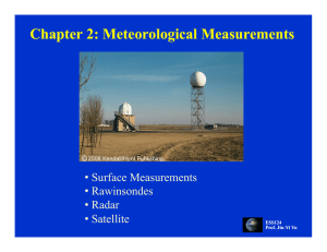 Chapter 2: Meteorological Measurements