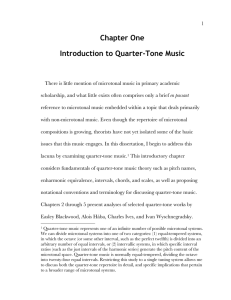 Chapter One Introduction to Quarter