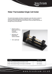 Water Thermostatted Single Cell Holder