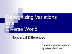 Nonverbal Differences - Christiana