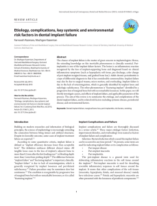 Etiology, complications, key systemic and environmental risk factors