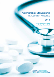 Antimicrobial Stewardship in Australian Hospitals 2011