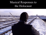 Musical Response to the Holocaust