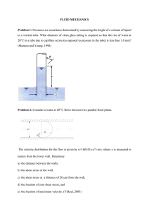 Fluid Mechanics Problems