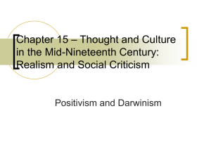 Thought and Culture in the Mid-Nineteenth Century: Realism and