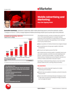 Mobile Advertising and Marketing: Past the Tipping Point.