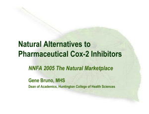 Natural Alternatives to Pharmaceutical Cox