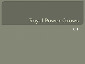 Royal Power Grows - Walker World History