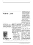 Kosher Laws - Manufacturing Confectioner
